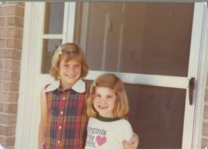 Yesterday was my big sister's birthday.  We are still exactly this adorable.